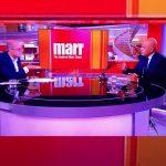 Health Secretary talking on Andrew Marr show