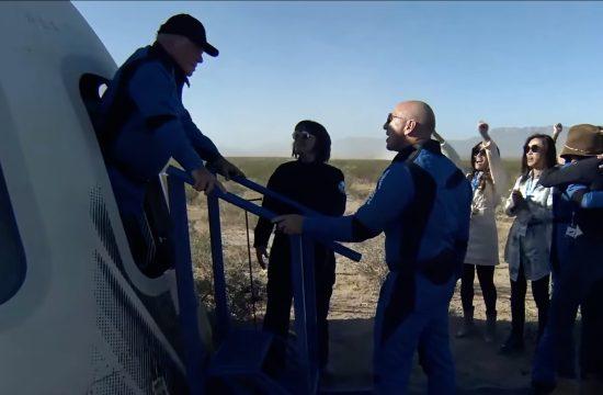 William Shatner lands